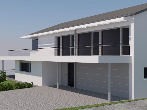 Neubau eines Einfamilienhauses mit Einliegerwohnung in Lindau - Otto-Hahn-Straße