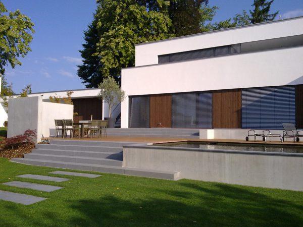 Neubau eines Einfamilienhauses mit Gästewohnung und Praxis in Lindau - Schwesternberg