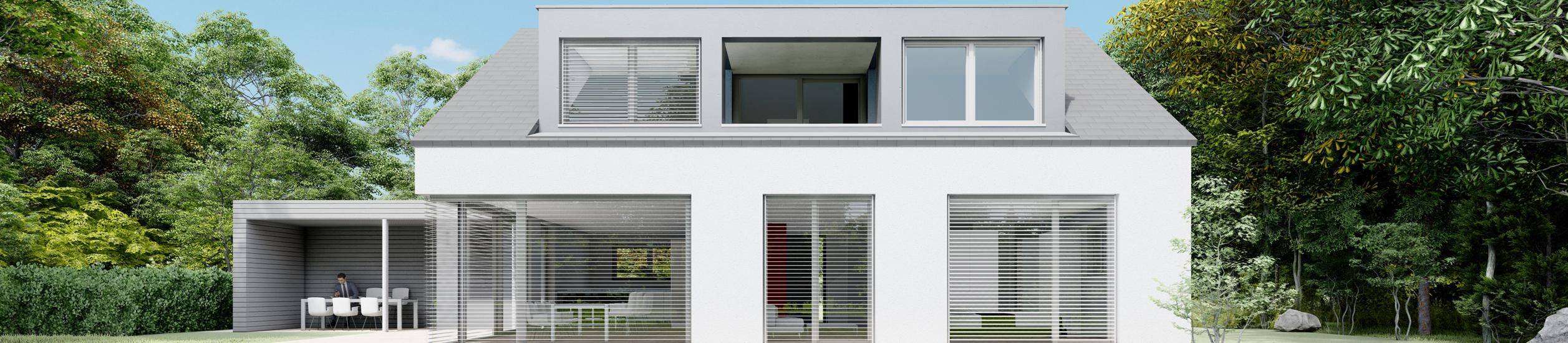 Neubau eines Einfamilienhauses in Schachen