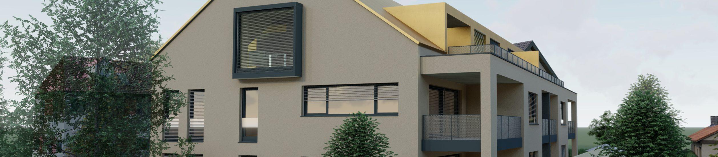 Neubau eines Mehrfamilienhauses in Wasserburg- Reiherstraße