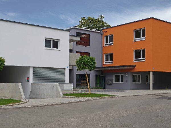 Neubau eines Wohngebäudes mit Praxisräumen, Tiefgarage und Wohngruppen für Menschen mit Behinderung in Lindau - Bazienstraße
