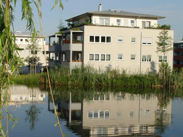 Neubau von vier Wohngebäuden mit Tiefgarage in Lindau - Am Köchlinweiher